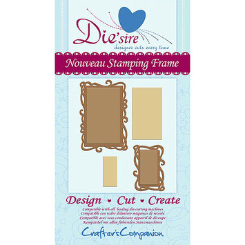 Crafters Companion DSNOUFR Diesire Cutting Die-Nouveau Stamping Frame