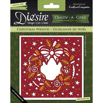 Crafters Companion DSCAD-XWREA Diesire Create-A-Card Cutting & Embossing Die-Christmas Wreath