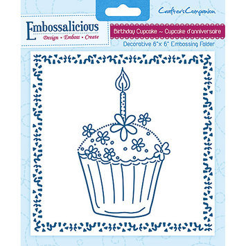 Crafters Companion Embossalicious Embossing Folders 6inX6inDaisy Chain