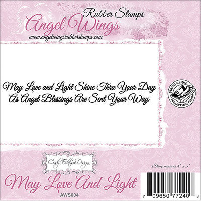 Cindy Echtinaw Designs Angel Wings Cling Mounted Stamp 4
