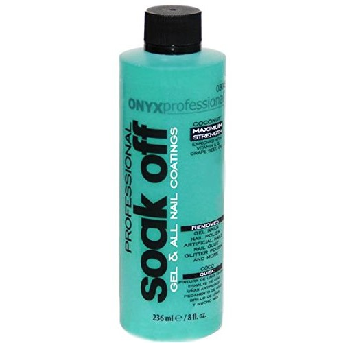Onyx Professional Soak Off Shellac & Gel Coconut Scented Nail Polish Remover