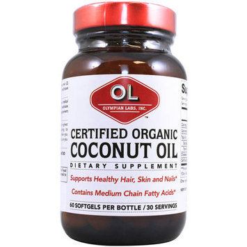 Olympian Labs - Coconut Oil Certified Organic - 60 Softgels