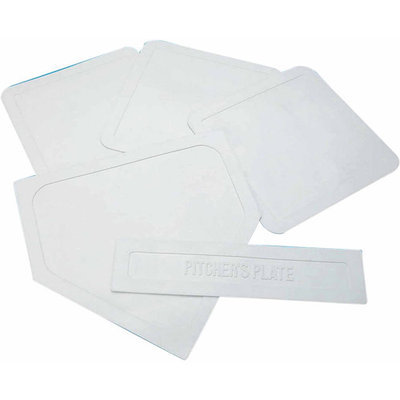 Champion Sports White Indoor/Outdoor Throw Down Bases - Set of 5