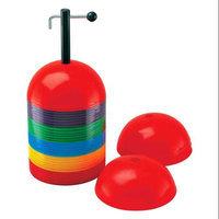Champion Sports Colored Rigid Dome Cones - Set of 36