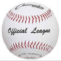 Champion Sports Official League Synthetic OLBS Baseballs, Dozen (dozen)