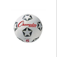 Olympia Sports Champion Sports Rubber Soccer Ball, No. 3, Black/Red/White