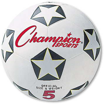 Olympia Sports Srb4 - Rubber Sports Ball, For Soccer, No. 4, White/Black