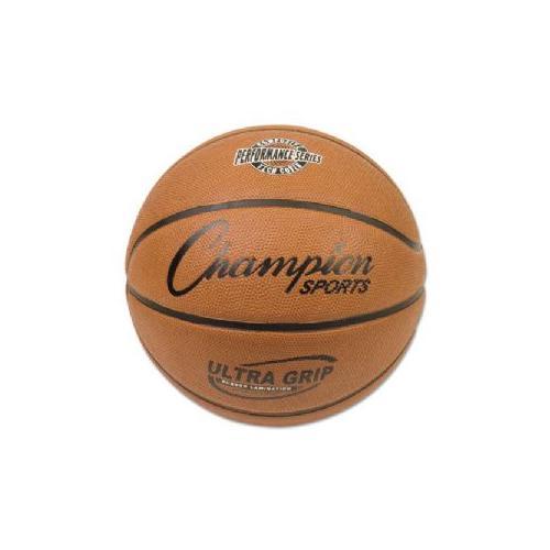 Champion Sports BX7 Rubber Sports Ball Basketball No. 7 Orange