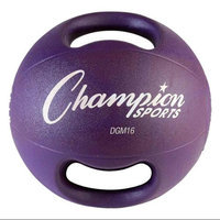 Champion Sports Double Grip Medicine Ball (Purple, 15.63 Lbs)