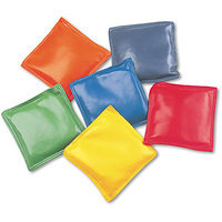 Champion Sports Bean Bag Set, Vinyl, 4, Assorted Colors, 6/Set
