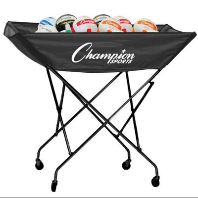 Champion Sports Volleyball Sports Cart - Holds 24 Balls