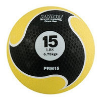 Champion Sports 15lb Medicine Ball with Textured Surface