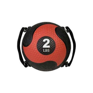 Champion Sports 2lb Textured Medicine Ball - Red