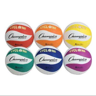 Champion Sports Cyclone Rubber Volleyball Set