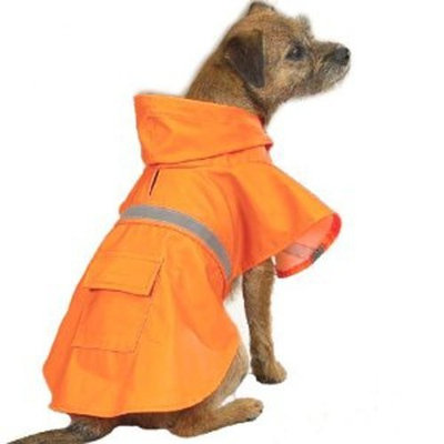 Guardian Guadian Gear Dog Rain Jacket, Orange, Small