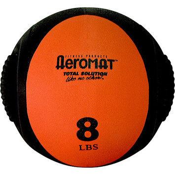 Aeromat 35132 Dual Grip Power Med Ball- Black- Orange