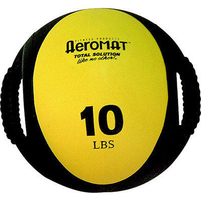 Aeromat Dual Grip Power 10 lb Medicine Ball