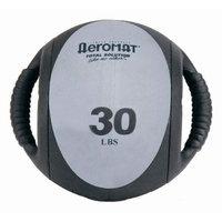 Aeromat 35140 Dual Grip Power Med Ball 9 in. Dia. 30 LB Black- Gray