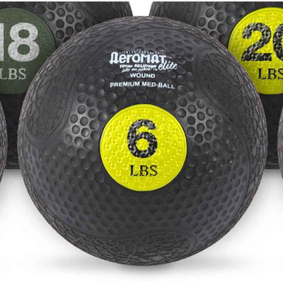 Aeromats Extreme Elite Medicine Ball in Yellow
