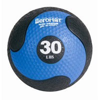 Aeromats Deluxe Medicine Ball in Black and Blue