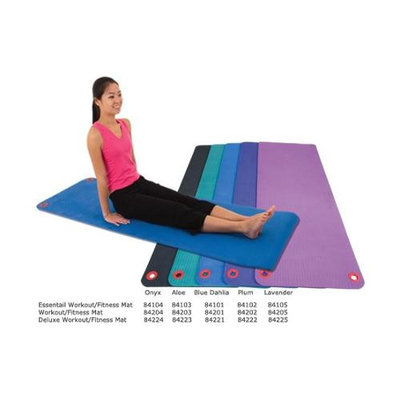 Eco Wise Fitness Ecowise 84221 Deluxe Workout and Fitness Mat- Blue Dahlia