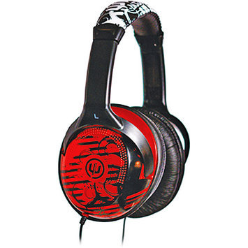 Empire Brands, Inc Empire Brands Inc Red & Black Full Size Reverb Headphones