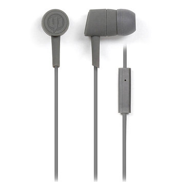 Empire Brands Wicked Audio Mojo Ear Buds w/Mic Light Grey