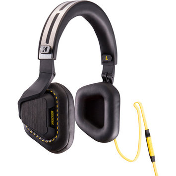 Kicker Raptor Portable On-ear Headphones with In-line Mic and Volume Control for iPhone and Android