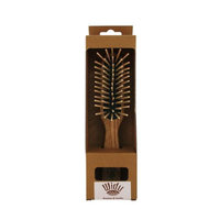 Widu: Ash Wood Bristle Hair Brush (XL Bamboo Bristles), Rectangular