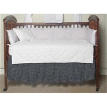 Patch Magic Blue and White Plaid Fabric Crib Dust Ruffle