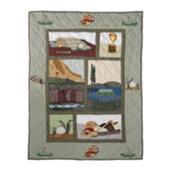 BELLACOR QCGOLF Golf Quilt Crib 36 x 46 Inch