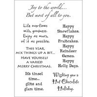 Stampers Anonymous Words To The Rescue Clear Stamp Set-Christmas
