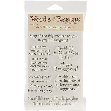 Stampers Anonymous Words To The Rescue Clear Stamp Set-Thanksgiving