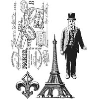 Stampers Anonymous Tim Holtz Cling Rubber Stamp Set-Paris Memoir