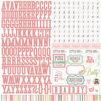 Echo Park Paper Bundle Of Joy Girl Cardstock Stickers 12