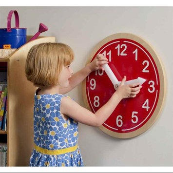 Whitney Bros WB9180 What Time Is It Wall Clock - Red