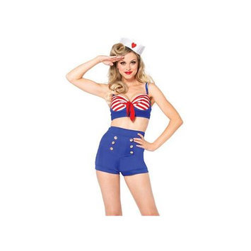 Leg Avenue On Deck Darling Costume 85189 Blue Large, Large