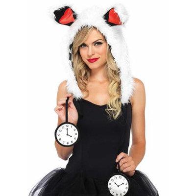 Leg Avenue White Rabbit Furry Hood Costume