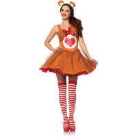 Leg Avenue CB85348 3 Piece Womens Tender Heart Bear Costume Set Small & Medium Brown
