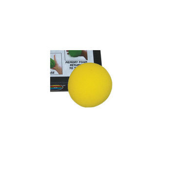Fabrication Enterprises 10-0776 CanDo Memory Foam Squeeze Ball - 2.5 in. Diameter Yellow X-Easy
