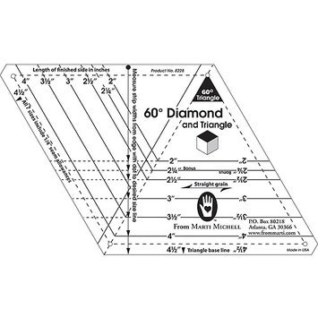 Marti Michell 60-degree Diamond and Triangle One-Derful One-Patch Templates