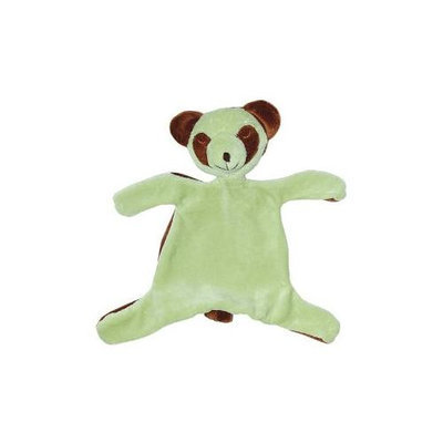 green sprouts by i play Organic Velour Blankie Animal - Sage Panda