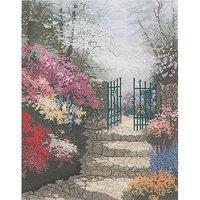 M C G Textiles Thomas Kinkade The Garden Of Promise Counted Cross Stitch Kit, 11