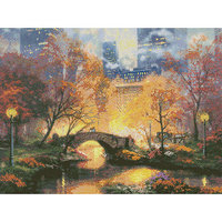 M C G Textiles Thomas Kinkade Central Park Counted Cross Stitch Kit, 16