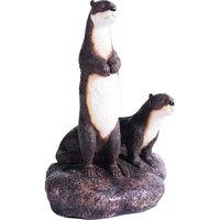 Kelkay Toilet Tissue Otters on the Rock Statue Black 4460K