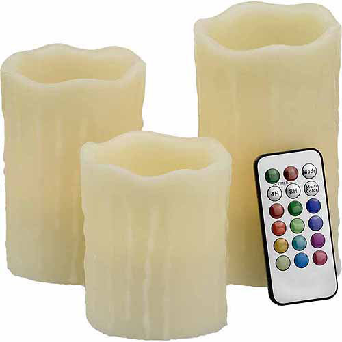 Unilution S3 Round Flamless Wax Drip Candles