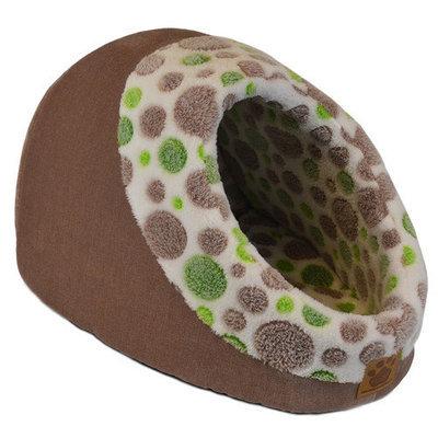 Precision Pet Hide N Seek Green Spot/Tan Dog Bed