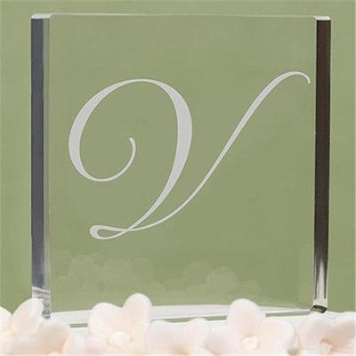 Hortense B. Hewitt Hortense b Hewitt 20488VP Letter V - Custom Script Monogram Cake Top