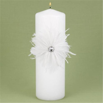 Hortense B. Hewitt 29725 Feathered Flair Unity Candle