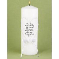 Hortense B. Hewitt 94704 This Day I Marry Lace Unity Candle
